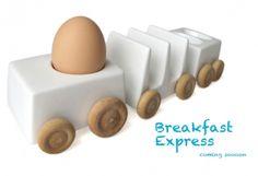 pociąg do śniadania   BREAKFAST EXPRESS    autorem tego fikuśnego zestawu śniadaniowego jest Reiko Kaneko