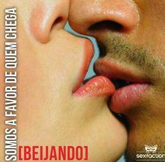 Sem mais! Apenas beije... #sexfaction #sex #sexy #kiss #cute #like #instalike