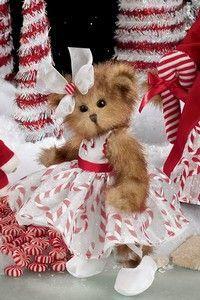 Peppermint Swirl Bearington Bears for Peyton and Cameron My Teddy Bear, Cute Teddy Bears, Christmas Teddy Bear, Boyds Bears, Love Bear, Tatty Teddy, Bear Art, Merry, Crafts