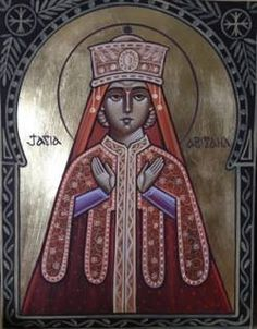 Coptic icon of Righteous Abigail by dr. stephane rene