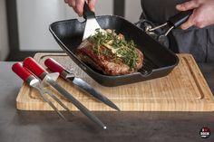 Flank steak + set DICK ze série RED SPIRIT (nůž, ocílka, vidlice)