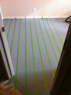 plywood flooring Painted Plywood Floors Painted plywood floors Picture of Start Taping Your Pattern. Decking of a house probably the most remarkable interior ar. Plywood Flooring Diy, Painted Plywood Floors, Faux Wood Flooring, Plywood Subfloor, Laminate Flooring, Painted Wood, Cladding Materials, Wood Cladding, Particle Board Floor