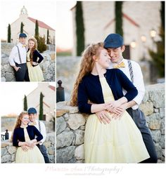 Styled Engagement photography, downtown McKinney, Texas.