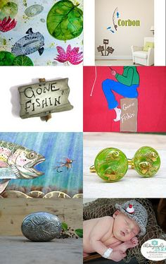 LET'S GO FISHIN! by GepArtJewellery on Etsy--Pinned with TreasuryPin.com