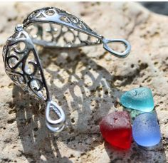 Sea glass locket