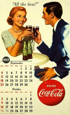 Coca-Cola Calendar September and October 1955