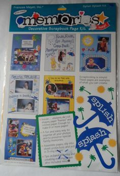$11.98/ Splish Splash Scrapbook Page Kit  Photo Memories by Frances Meyer #5020-008 ~paper crafting supplies kids youth children  ~~see over 20 categories of merchandise in my store. SHIPPING IS ALWAYS FREE in the USA; I do ship globally.  www.shellyssweetfinds.com