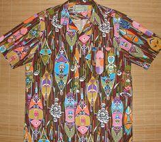 Disney - RARE 60s Enchanted Tiki Room Vintage Aloha Shirt - TheHanaShirtCo