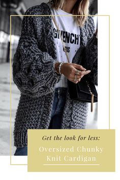 Get the look for less- Oversized Chunky Knit Cardigan  #fashion #shopping #styleinspiration #autumnfashion