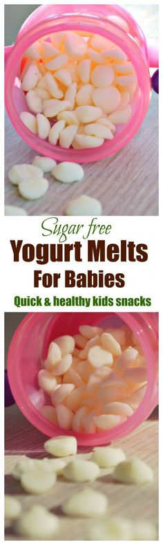 Baby yogurt melts are an healthy mess free way to eat yogurt on the go for babies. An easy way to tranistion babies from breastmilk to cow milk. baby foods with breastmilk Baby Yogurt Melts Toddler Snacks, Healthy Snacks For Kids, Baby Food Recipes, Snack Recipes, Food Baby, Yogurt Melts, Baby Weaning, Led Weaning, Homemade Baby Foods