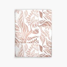 Modern geometric rose gold hand drawn floral by GirlyTrend