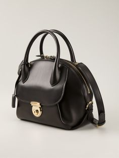 Black calf leather medium 'Fiamma' tote from Salvatore Ferragamo