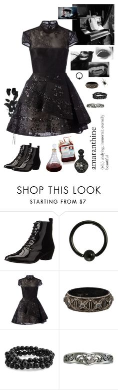 """""""Kept Away From the World"""" by girl-named-raven ❤ liked on Polyvore featuring Nine West, Alex Perry, Armenta and Bling Jewelry"""