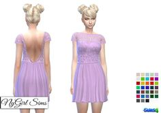 ff1098656ab NY Girl Sims  Embroidered Lace Top Dress • Sims 4 Downloads Check more at  http