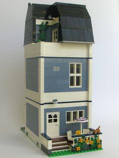 Sand Blue Townhouse back