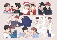 Seoksoo fanart (´∀`)♡ cool art, kpop fanart, fan art Couple Wallpaper, Adventure Time Anime, Kpop Fanart, Couple Art, Sherlock Bbc, Good Looking Men, Anime Style, Hunger Games, Funny Pictures