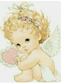 Baby Angel by Ruth Morehead Angel Images, Angel Pictures, Cute Images, Cute Pictures, Angel Drawing, Sarah Kay, Angel Art, Cute Illustration, Christmas Angels