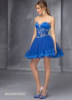 2014 Short Sheer Corset Homecoming Dress by Mori Lee 9272