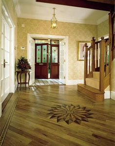 Foyers & Entry flooring ideas and room scenes featuring Create the Look by Amtico® Vinyl Flooring Karndean Flooring, Foyer Flooring, Vinyl Flooring, Flooring Ideas, Front Hallway, House Front Door, Entry Foyer, Floor Design, Tile Design