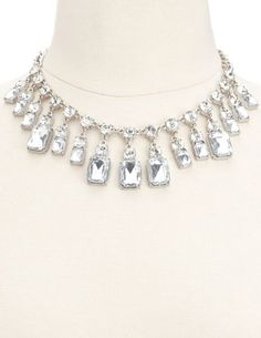 Dazzling Diamond Short Necklace: Charlotte Russe