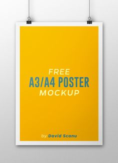 Free A3 / A4 Poster Mock Up on Behance
