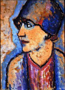 Retrato de la señora Kirchhoff - (Alexej Georgewitsch Von Jawlensky)