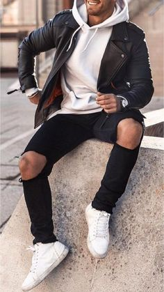 Cool Outfits For Men, Stylish Mens Outfits, Casual Outfits, Men Casual, Casual Clothes For Men, Simple Outfits, Trendy Mens Fashion, Guy Fashion, Winter Fashion