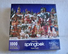 Springbok Dept 56 North Pole Series Village1000 pc Factory Sealed Jigsaw Puzzle  #Springbok