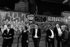 Músicos da OSB, do lado de fora da Sala Cecília Meireles, momentos antes do concerto. Foto: Cicero Rodrigues