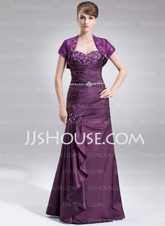 Mother of the Bride Dresses - $152.99 - Mermaid Sweetheart Floor-Length Taffeta Mother of the Bride Dress With Ruffle Lace Beading (008005576) http://jjshouse.com/Mermaid-Sweetheart-Floor-Length-Taffeta-Mother-Of-The-Bride-Dress-With-Ruffle-Lace-Beading-008005576-g5576