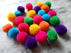 NEW  Hmong hill tribe pom poms  25 pcs. assorted by TintinBeads