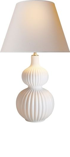 Table Lamps, Designer White Ribbed Porcelain Lamp, so beautiful, inspire your friends and followers interested in luxury interior design & gifts with more beautiful accents like this from InStyle Decor Beverly Hills, Luxury Designer Furniture, Mirrors, Lighting, Art, Accents & Gifts, over 3,500 inspirations to choose from and share with our simple one click Pinterest Pin button enjoy & happy pinning