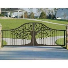 Image result for wrought iron gates with tree design