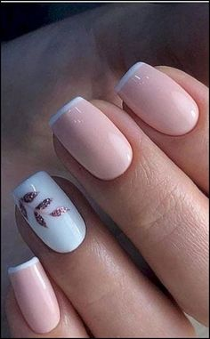 44 Stylish Manicure Ideas for 2019 Manicure: How to Do It Yourself at Home! - 44 Stylish Manicure Ideas for 2019 Manicure: How to Do It Yourself at Home! – Page 4 of 44 – Nageldesign – Nail Art – Nagellack – Nail Polish – Nailart – Nails Cute Nail Polish, Cute Acrylic Nails, Cute Nails, My Nails, Gel Nail Polish, Glitter Nails, Pretty Gel Nails, No Chip Nails, Work Nails
