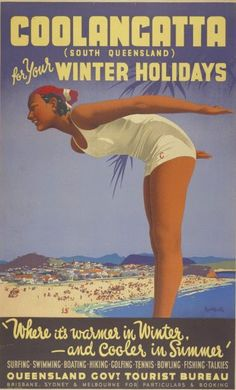 I hope you're enjoying a nice break and doing all the tradition Aussie things. These are some vintage Australian travel posters, all by Jam. Happy Australia Day, Australia Travel, Queensland Australia, Posters Australia, Australian Vintage, Tourism Poster, Beach Trip, Hawaii Beach, Oahu Hawaii