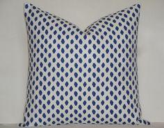 Decorative Pillow Cover / Dot  IKAT / Blue / Navy / Throw Pillow / Accent Pillow - SQUARE Or Lumbar Pillow