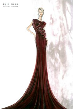 ##Elie Saab Fashion Illustrations #S/S 2012 Couture