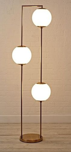 Sale ends soon. The three glowing orbs on this unique floor lamp are suspended by a simple metal frame, ready to cast a warm glow in your bedroom, living room or playroom. Playroom Flooring, Living Room Flooring, Bedroom Flooring, Living Room Furniture, Living Room Decor, Garage Flooring, Kitchen Flooring, Bright Floor Lamp, Unique Floor Lamps