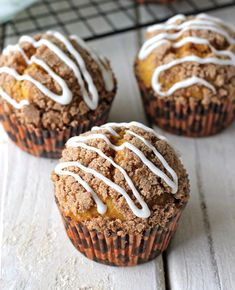 Pumpkin bread in muffin form with an oh-so-crumbly streusel topped with a drizzled vanilla glaze! Fall is officially here! I mean it was 91 degrees outside today but technically, fall is here so that means pumpkin season is here too. I've been itching and itching to make something with pumpkin in it but I just …