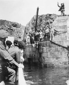 Sark, part of the Guernsey Bailwick, being liberated from the germans