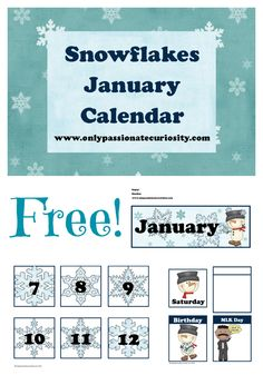January Pocket Chart Calendar Cards- included heading, pattern cards, holiday, yesterday, today and tomorrow. Schedule Cards, School Schedule, Printable Worksheets, Free Printables, Classroom Calendar, Kindergarten Calendar, January Calendar, Snow Theme, Parent Resources