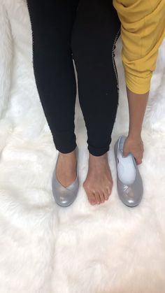 Designed specially for bunions, with wide toe box space. Silver leather flats for hallux valgus Ballet Shoes, Shoes Sandals, Heels, Bunion, Most Comfortable Shoes, Wide Feet, Feet Care, Leather Flats, Beautiful Shoes