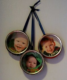 Make Photo Tin Ornaments
