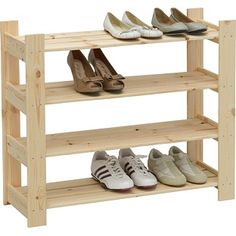 Buy 4 Shelf Shoe Storage Rack - Solid Pine at Argos.co.uk - Your Online Shop for Shoe storage.