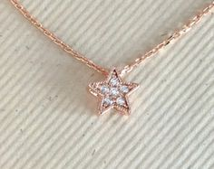 Rose gold necklace flower yoga jewelry by WendyShrayDesigns