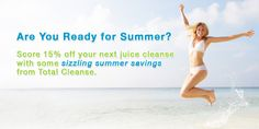 Sizzling Summer Savings: Score 15% Off Your Next Juice Cleanse! http://www.totalcleanse.ca/news/juice-cleanse-promo/