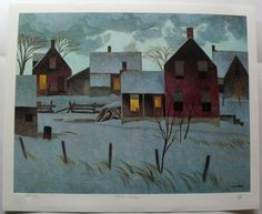 Group Seven Signed Limited Edition Winter Evening A J Casson Landscape Quilts, Abstract Landscape, Landscape Paintings, Landscapes, Emily Carr, Group Of Seven Paintings, Tom Thomson Paintings, Art Nouveau, John James Audubon