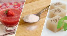 """Ágar-ágar: a gelatinados vegetarianos De origem vegetal, livre de corantes e muito utilizado na culinária asiática, o ágar-ágar é um carboidrato com baixo teor calórico proveniente de algas marinhas, sendo assim uma ótima opção para veganos na substituição da gelatina.  E os benefícios? """"Ele é rico em colágeno, que é importante na prevenção de rugas e"""