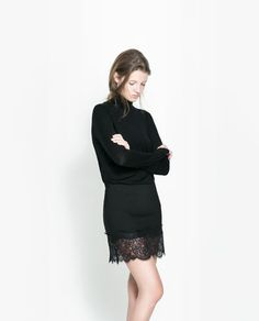 Image 2 of SKIRT WITH LACE APPLIQUÉ from Zara