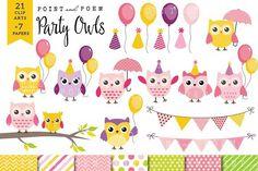 50% Off Girl Birthday Owl Clip art